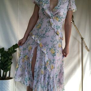 Zara Floral Dress W/ Slit